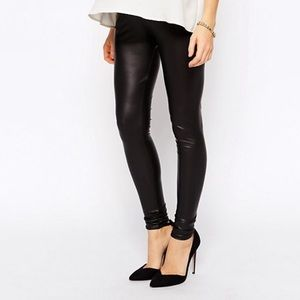 ca3ce96505337 ASOS Maternity. Maternity faux leather leggings